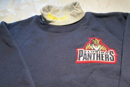 Florida Panthers Youth Sweat Shirt XL Turtleneck NHL Majestic 50/50 Vintage - $10.99