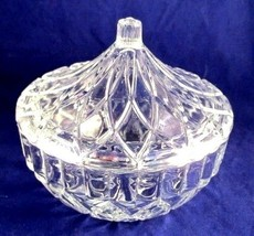 KIG Indonesia Crystal Clear Pressed Glass Candy Dish Box w/ Lid Alexandria - $22.00