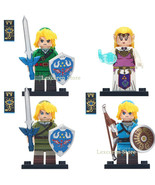 Princess Zelda & Link The Legend Of Zelda Single Sale Minifigures Toy Gift - $3.15