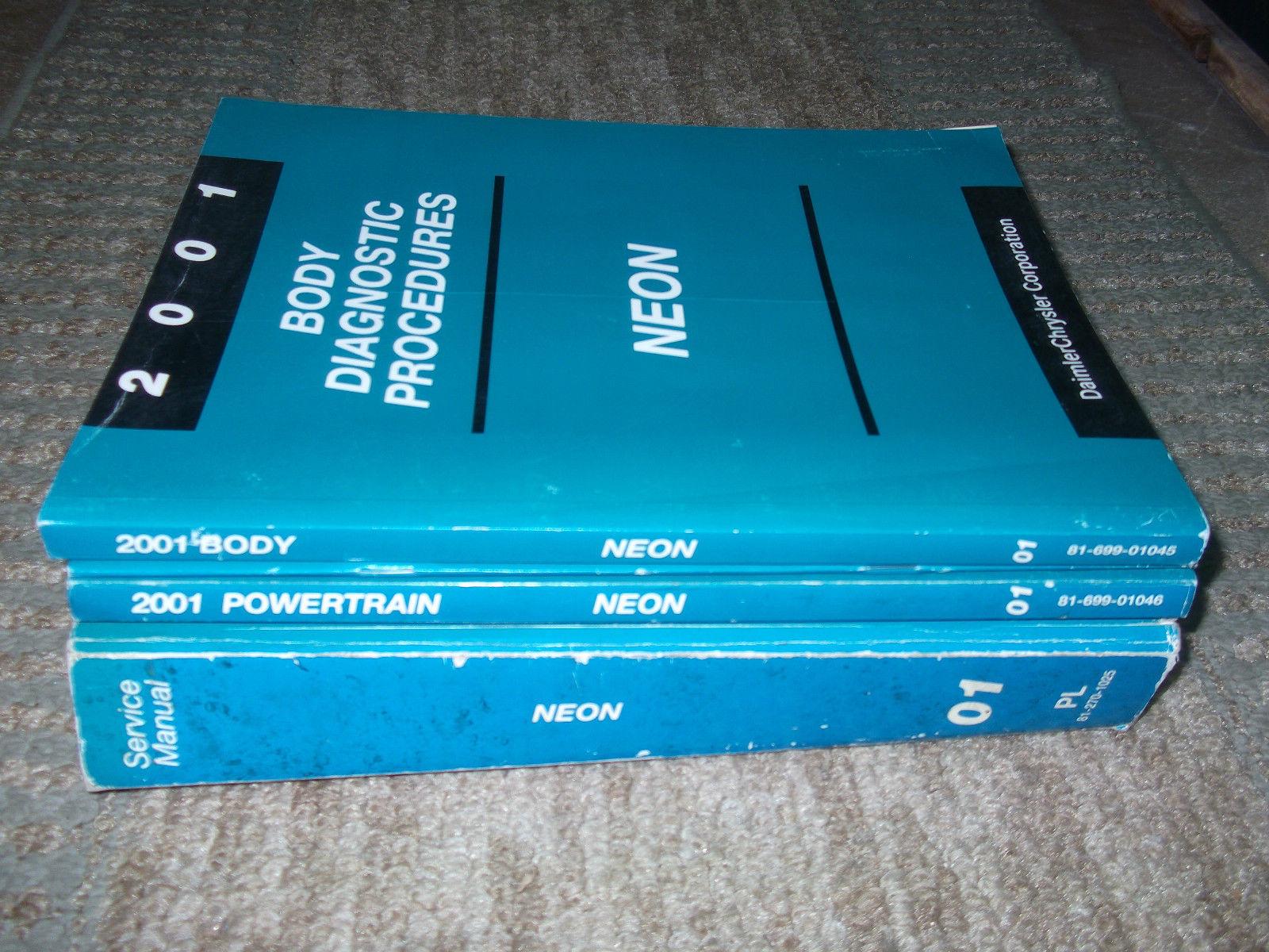 2001 Dodge Neon Shop Service Workshop Repair Manual Set W Diagnostics OEM image 5