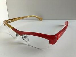 New ALAIN MIKLI AL0832 AL 0832 0003 48mm Red Yellow Eyeglasses Frame - $349.99