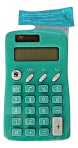 Dual Power 8 Digit Display Calculator with Memory Function Auto Off Teal - $6.89