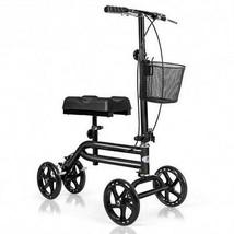Medical Steerable Knee Walker with Dual Braking System-Black - Color: Black - $169.77