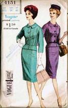 Vintage 1960 VOGUE Pattern 4151 Misses' SUIT (Jacket & Skirt) - Size 18½... - $16.00