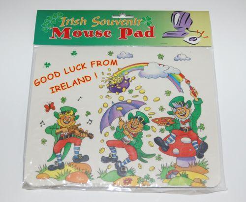 Irish Souvenir 5846 Computer Leprechaun Mouse Pad Good Luck from Ireland