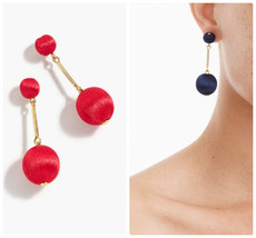 NWT J.Crew 100 %Authentic Fiery Sunset Thread Ball Drop EARRINGS - $23.99