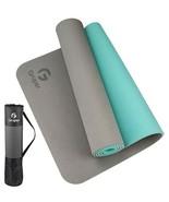 "Gruper TPE Yoga Mat Non-Slip w/Carrying Bag 72"" x 24"" Gray/Teal 6MM - $29.99"