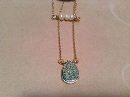 NEW Crystal Couture Gold/Crystal Necklace/Earring Set image 3