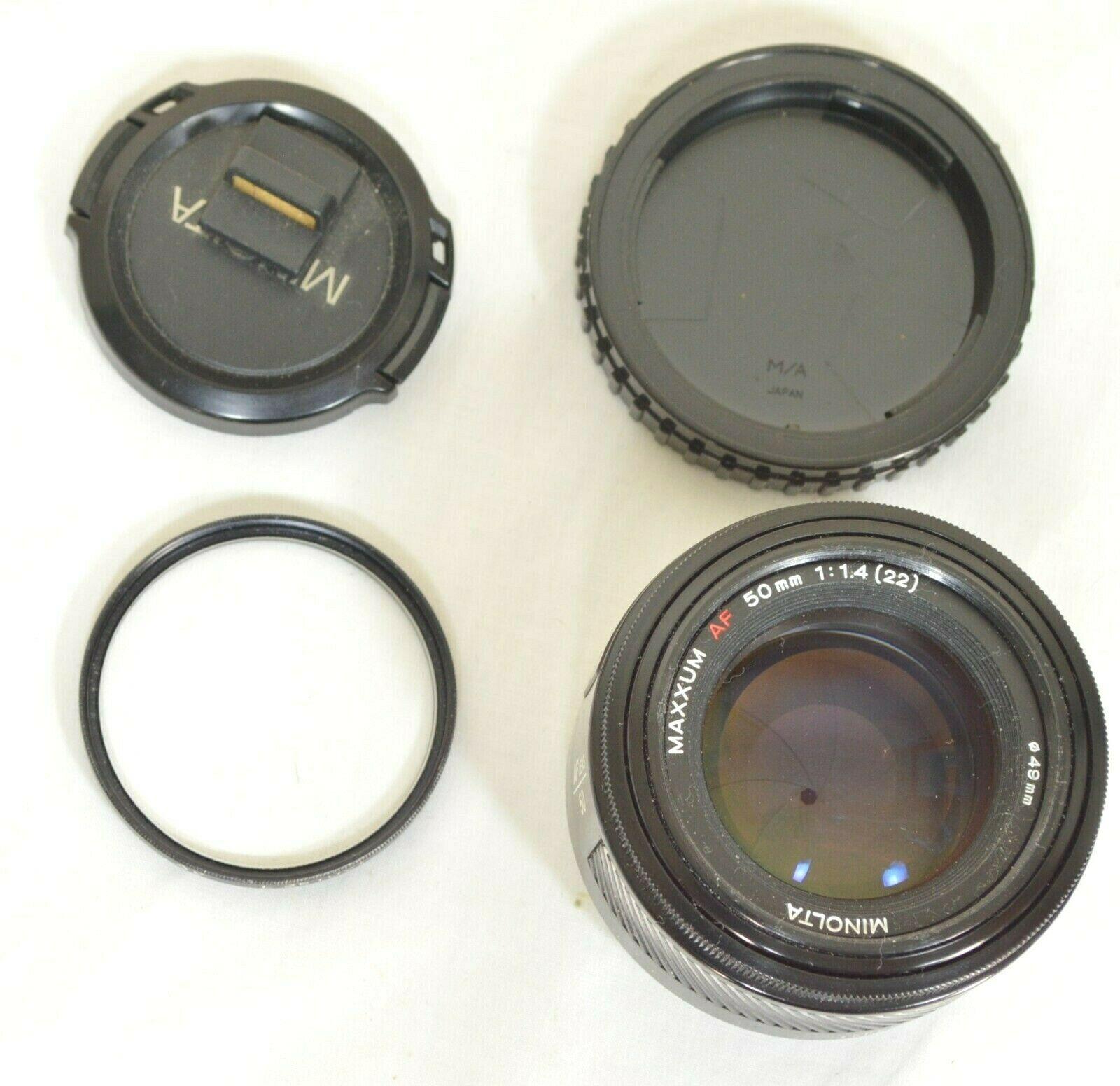 Minolta AF 50mm f/1.4 AF RS camera lens Sony Alpha A-mount