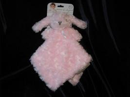 BLANKETS & BEYOND PINK ROSE SWIRL BABY BUNNY RABBIT SECURITY BLANKIE NEW! - $27.71
