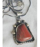 Red loam colored stone pendant   - $35.00