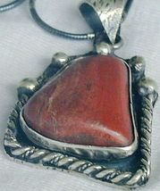 Red  loam colored stone pendant 3 thumb200