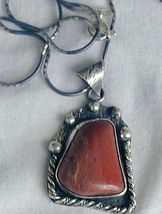 Red  loam colored stone pendant 2 thumb200