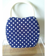 Vintage or Handmade(?) Adorable Polkadot Navy &... - $16.00