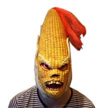 Halloween Party Mask Angry Mr Old Corn Yellow Maize Costume Adult Masque... - $29.00