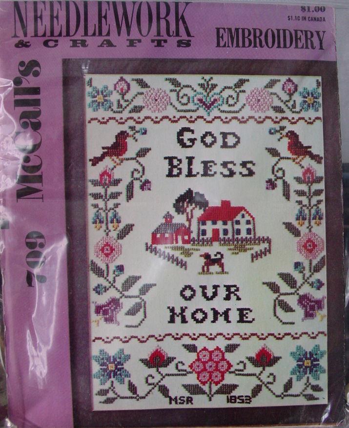 Vintage Embroidery Transfer Pattern 709 Sampler