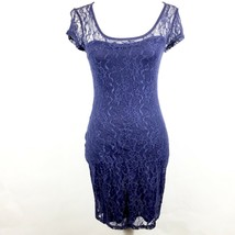 Guess Women's Dress Blue Lace Bodycon Cocktail Party Stretch Sheer Size ... - $29.69