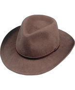 Henschel Soft Wool Felt Outback Hat Leather Band Water Repellent Pecan B... - £45.96 GBP