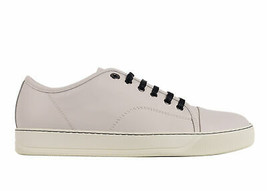 Lanvin Mens White Leather Lace Up Low Top Sneakers Size UK7/US8~RTL$650 - $332.50