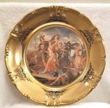 VTG Schwarzenbach Winterling Bavaria Porcelain Charger Plate G. HAMILTON RATTO.. - $65.00