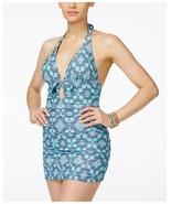 Jessica Simpson de una Sola Pieza TALLA S Marine Multicolor Atada Al Cuello - $49.44