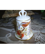 Kaiser W. Germany Porcelain Peacock Bird Collectors Bell - $12.99