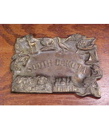 South Dakota State Shaped Metal Souvenir Ashtray, Made in Japan - $8.95