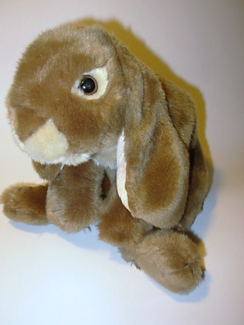 Toys R Us Animals : Animal alley brown bunny rabbit plush hare stuffed