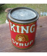 Vintage King Syrup Can 2 lbs 8 oz.Mangels Herold Co Inc. Baltimore, Md. ... - $35.00