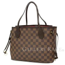 LOUIS VUITTON Neverfull PM Damier Canvas Ebene Tote Bag N51109 Authentic... - $905.05