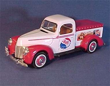 Pepsi Cola 1940 Ford Low Bed Pickup Truck 1/10 Scale NIB
