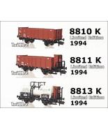 FLEISCHMANN N 8810 8811 8813 KPEV Freight Cars - Lt Ed 1994 - $94.50