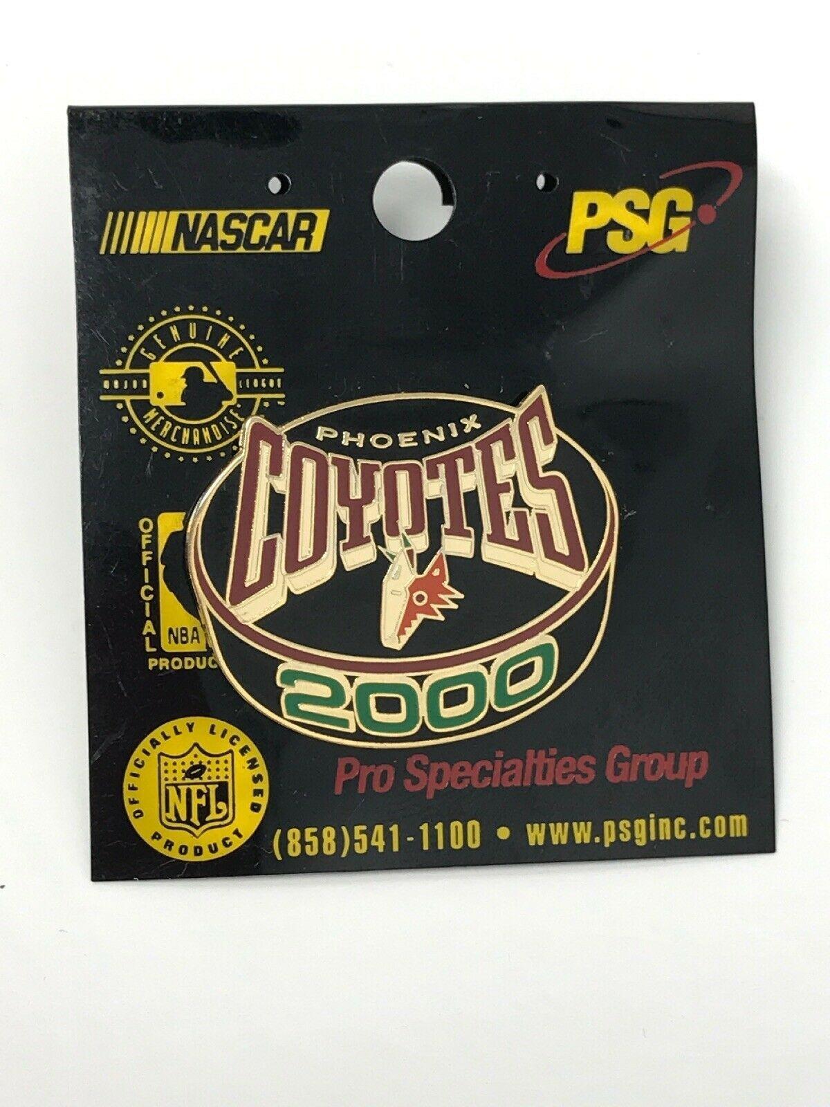 NHL Phoenix Arizona Coyotes VTG Logo Pin From 2000 Season Puck New NOS