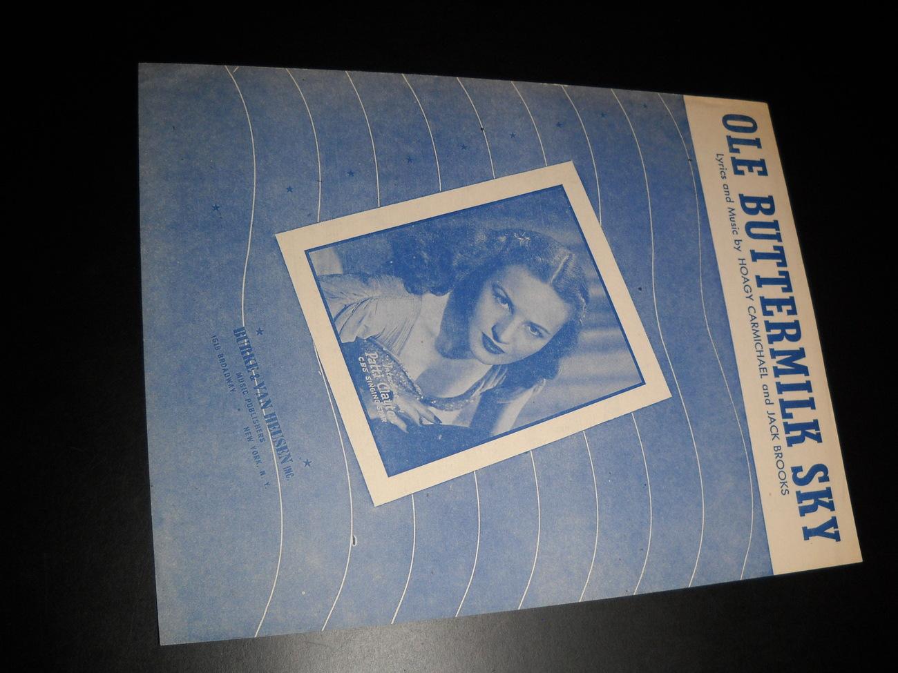 Sheet music ole buttermilk sky canyon passage patty clayton 1946 berke 01