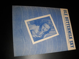 Sheet Music Ole Buttermilk Sky From Canyon Passage Patti Clayton 1946 Ca... - $8.99