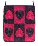 Valentine Heart Beaded Evening Bag Purse Hand H... - $14.95