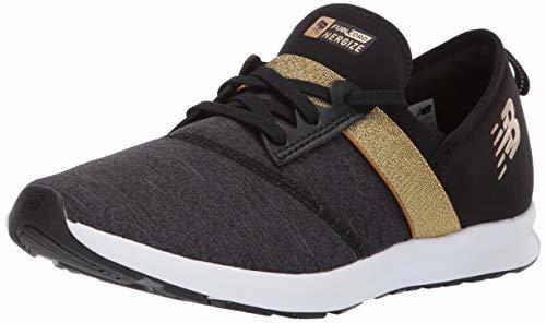 Balance Girls' Nergize V1 FuelCore Sneaker, Black/Classic Gold, 3.5 W US Big Kid