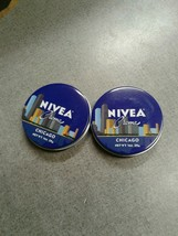 NIVEA Creme Travel Size Tin 1oz Limited Edition CHICAGO (2 Pack) Brand New - $7.99