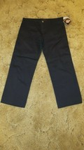 "Dickies Girl's NHH11 Stretch Fabric Black Uniform Pant Size 5 - 32"" x 24.5"" - $12.82"