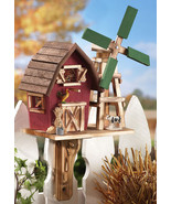 Country Barn With Windmill Birdhouse - $21.95