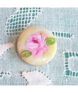 Buttons hand painted Roses Mother of Pearl - $1.50