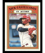 2021 Topps Heritage #126 Nick Castellanos NM-MT Reds In Action - $0.99