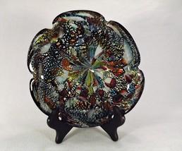 "Circa 1950""s Murano Venetian  Art Glass Bowl  Gold Flecks Multi Colored LARGE - $195.00"