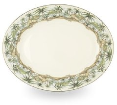 Lenox British Colonial Gold Banded Bone China 16-Inch Oval Platter - $48.50