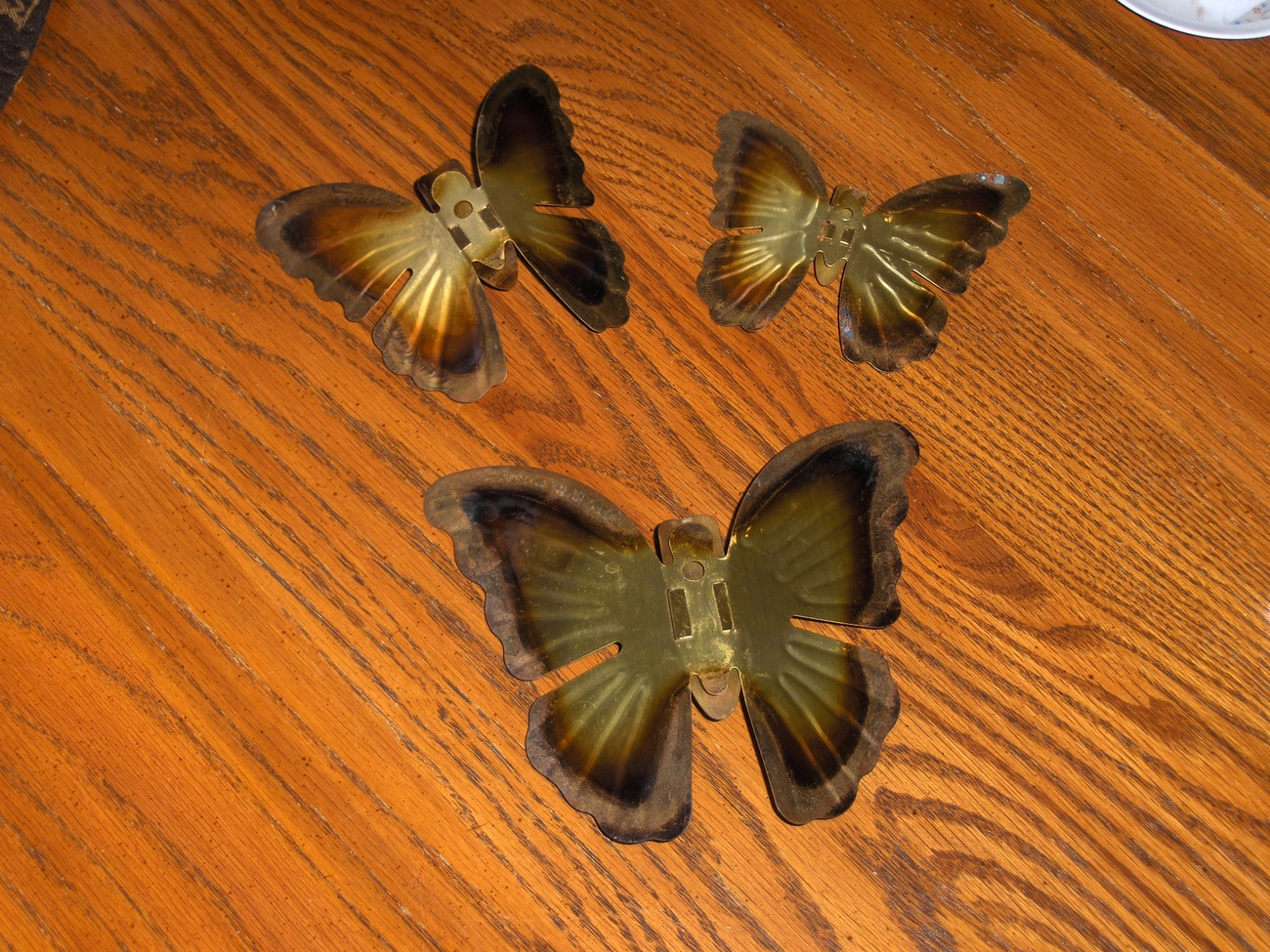 Homco Brass Butterflies Home Interiors Butterfly Wall Accents Set of 3