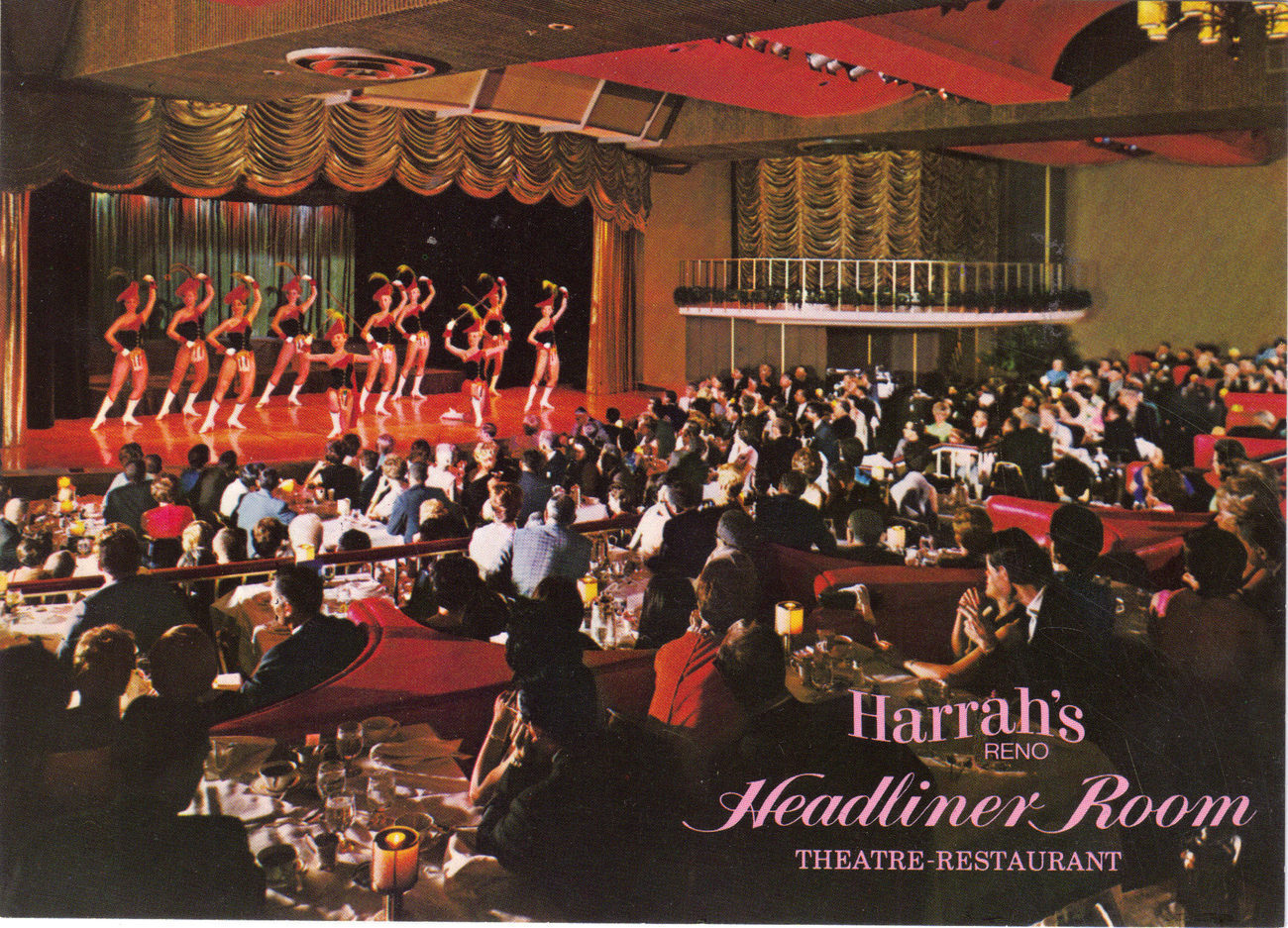 Postcard harrahs headliner