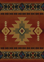 """4x6 (3'11"""" x 5'3"""")  Southwestern Lodge Cabin Rustic Decor Tribal Red Are... - €86,31 EUR"""