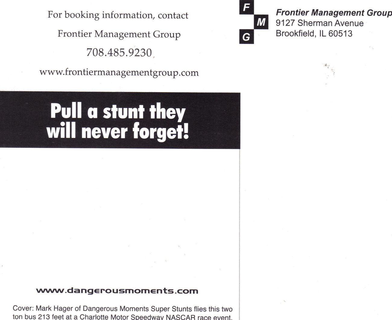 MARK HAGER Dangerous Moments SUPER STUNT Photo Print