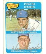 1965 topps sandy koufax don drysdale autograph ... - $399.99