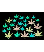 24 Piece Glow in the Dark Marijuana Weed Pot Leafs - $8.95